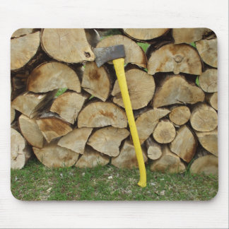 Axe and Woodpile Mouse Pad
