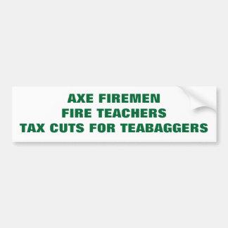 AXE FIREMEN, FIRE TEACHERS CAR BUMPER STICKER