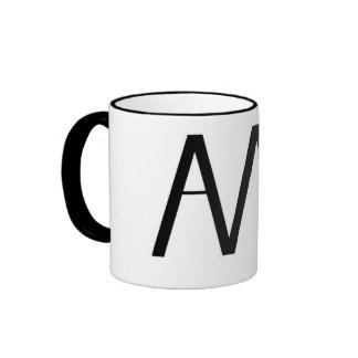 Axe Man's Bridge AMB Logo Black and White Mug