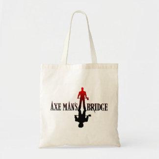 Axe Man's Bridge Katt Karter Design Reusable Tote Budget Tote Bag