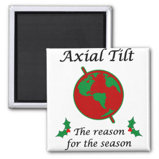 Axial Tilt Reason for the Season Square Magnet