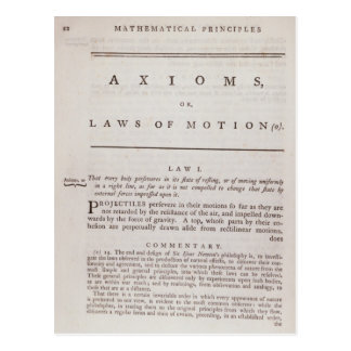 Axioms, or Laws of Motion, from Volume I Postcard