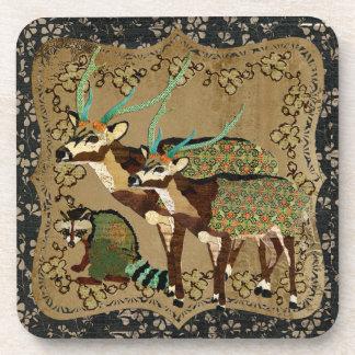 Axis Deer & Raccoon Cork Coaster