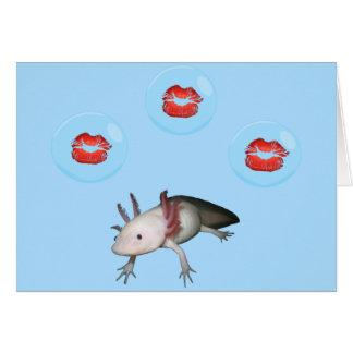 Axolotl Kisses Valentine Card