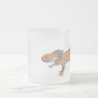 Axolotl Frosted Glass Mug