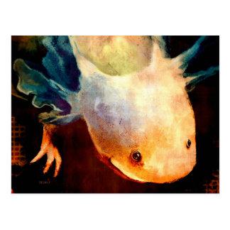 Axolotl Sun Postcard