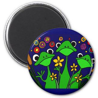 AY- Funny Frog Folk Art Design Magnet