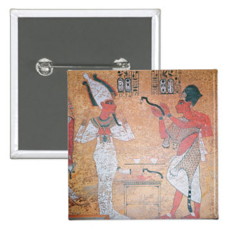 Ay performing the opening of the mouth ceremony 15 cm square badge