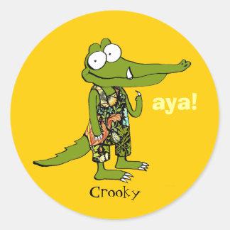 "aya! ""Crooky"" Sticker set"