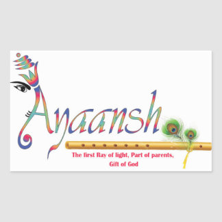 ayaansh rectangular sticker
