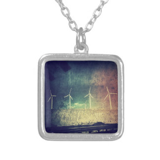 ayahuasca inspired windmills 2 silver plated necklace