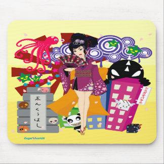 Ayaka in Harajuku Town Mousepads