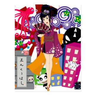 Ayaka in Harajuku Town Postcard