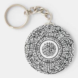 Ayatul Kursi Round Keychain