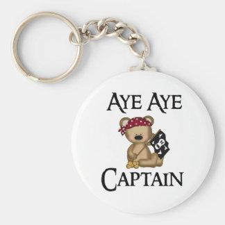 Aye Aye Captain Teddy Bear Pirate Key Chain