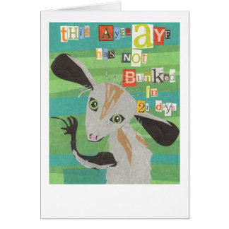 Aye Aye Greeting Card