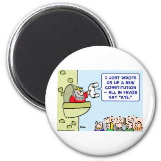 aye constitution king favor 6 cm round magnet