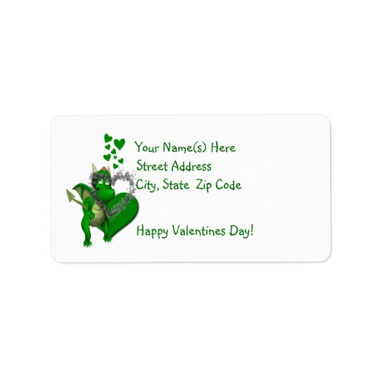 Aye, Dragons Need Valentines Return Address Labels