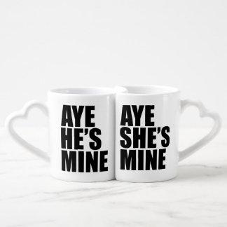 Aye he's mine Aye she's mine Lovers Mug Sets