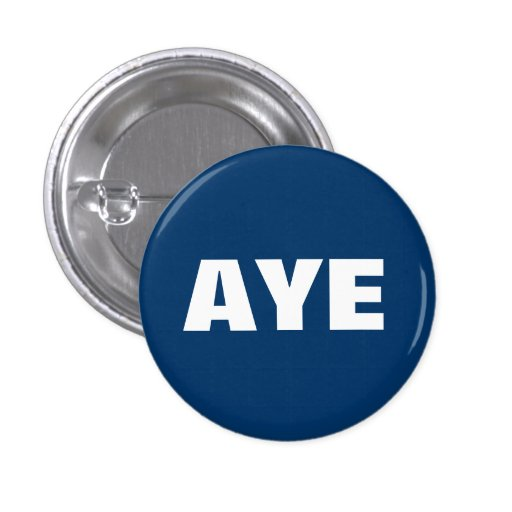 Aye Scottish Independence Button Badge