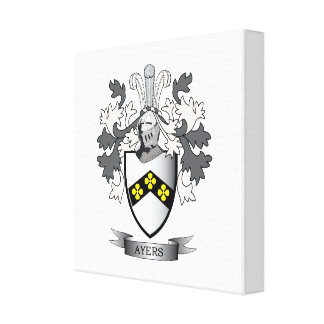 Ayers Family Crest Coat of Arms Canvas Print