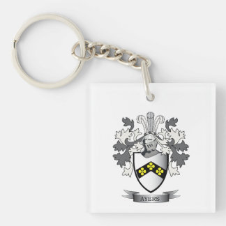 Ayers Family Crest Coat of Arms Key Ring