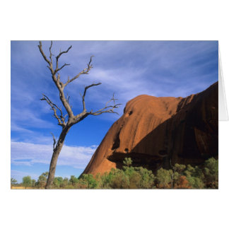 Ayers Rock Uluru in the Outback Australia Card