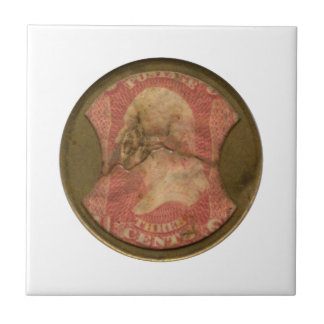 Ayers Three-Cent Enclosed Postage Small Square Tile