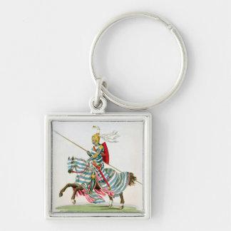 Aylmer de Valence, Earl of Pembroke (1265?-1324), Silver-Colored Square Key Ring