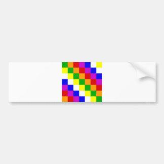 Aymara people ethnic flag color square bumper sticker
