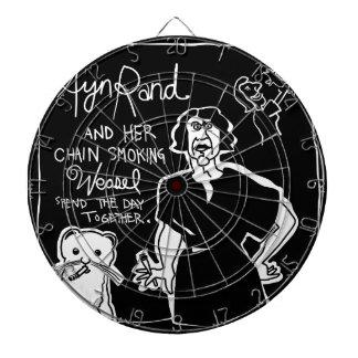 Ayn Rand and Her Chain Smokin' Weasel! Dartboard