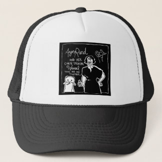 Ayn Rand and Her Chain Smokin' Weasel! Trucker Hat