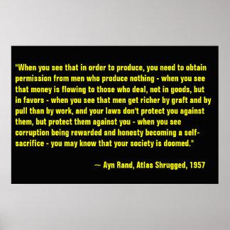 Ayn Rand, Atlas Shrugged Poster
