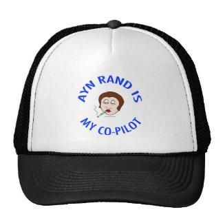 ayn rand is my co-pilot objectivism trucker hats