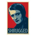 Ayn Rand - Shrugged: Obama CHOPE Parody Poster
