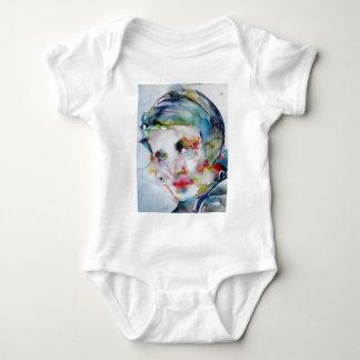 ayn rand - watercolor portrait baby bodysuit