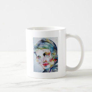 ayn rand - watercolor portrait coffee mug
