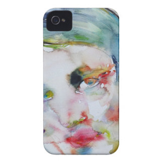 ayn rand - watercolor portrait iPhone 4 Case-Mate cases
