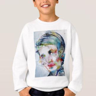 ayn rand - watercolor portrait sweatshirt