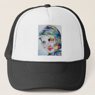 ayn rand - watercolor portrait trucker hat