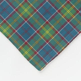 Ayrshire Scotland District Tartan Fleece Blanket