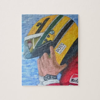 AYRTON - Artwork by Jean Louis Glineur Jigsaw Puzzle