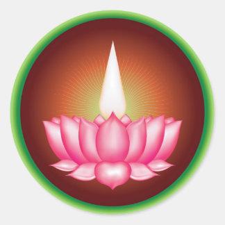 Ayyavazhi Indian Dharmic Religious Symbol Classic Round Sticker