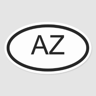 AZ Arizona Euro Style Oval Sticker