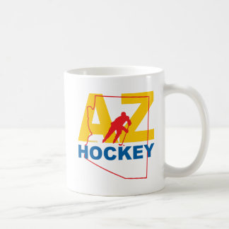 AZ Arizona Hockey Player State Coffee Mug
