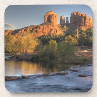 AZ, Arizona, Sedona, Crescent Moon Recreation 3 Drink Coaster
