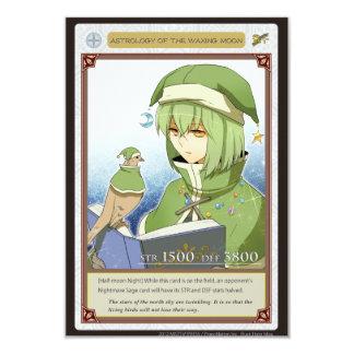 AZ card - Astrology of the Waxing Moon 9 Cm X 13 Cm Invitation Card