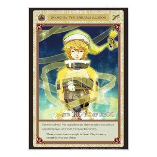 AZ card - Bound by the Dream's Illusion 9 Cm X 13 Cm Invitation Card
