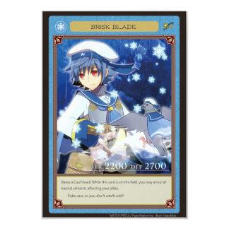 AZ card-Brisk Blade 9 Cm X 13 Cm Invitation Card