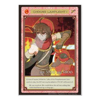 AZ card - Choking Lamplight I 9 Cm X 13 Cm Invitation Card